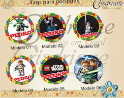 Plaquinhas / Toppers lego Star Wars