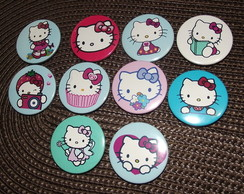 Botons Hello Kitty( kit com 10 unidades)