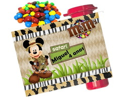 Rótulo Para m&m 7,5x9,5 Cm Mickey Safari