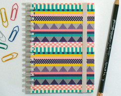 Caderno Espiral Decorative Stripes