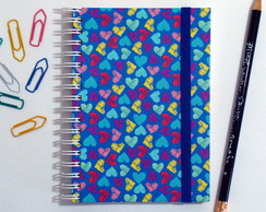 Caderno Espiral Little Hearts Blue
