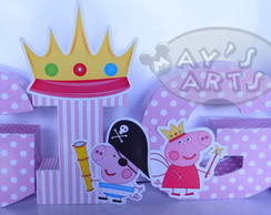Letra 3d Decorada Peppa Pig