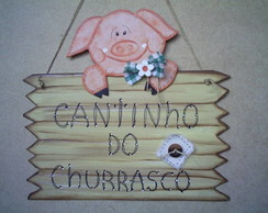 Placa churrasco.
