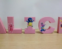 Letra Box 3d Decorada Backyardigans