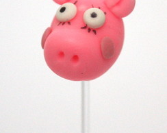 Topper para doces peppa em biscuit.