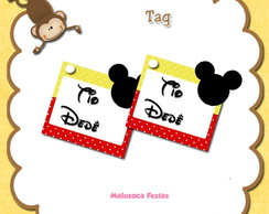 Tag Mickey Minnie 3d com nome