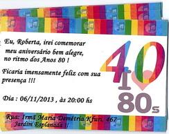 Convite Virtual 40 Anos Elo7
