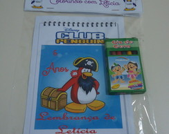 Livrinho de colorir Club Penguin