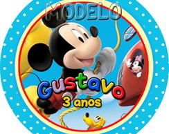 Adesivos Redondos 5 cm Mickey Club House