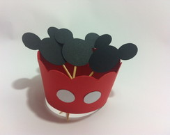 Cupcake Wrapper E Topper Mickey