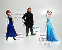 Mini Totens Em Pvc 30cm FROZEN com base