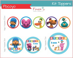 Kit Digital Toppers Pocoyo