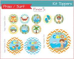 Kit Digital Toppers Praia
