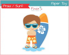 Paper Toy Digital Surfista / Praia