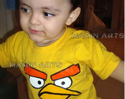 Camiseta Infantil A Adulto Angry Birds