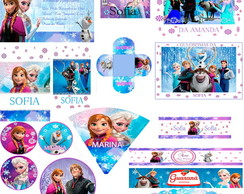 Kit Festa Digital Frozen Disney