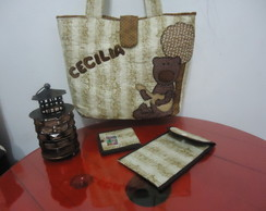 Bolsa Patchwork Estampa Musical