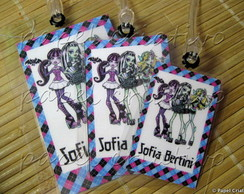 Kit 3 Bagtags - MONSTER HIGH