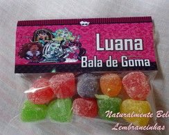 Bala de Goma personalizada Monster High