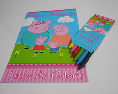 Kit de Colorir Personalizado Peppa