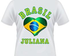 ... Camiseta Brasil - SEU NOME NA COPA 2018 28d9ab146dbd6