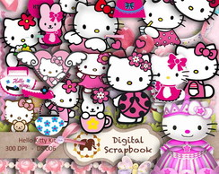 Kit Scrapbook Digital - HELLO KITTY