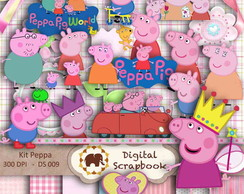 Kit Scrapbook Digital - PEPPA