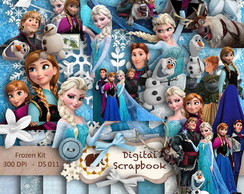 Kit Scrapbook Digital - FROZEN