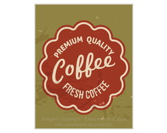 Placa Mdf Retrô Premium Fresh Coffee-744