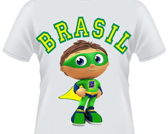 Camiseta Super Why Brasil