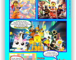 Lego Movie Convite Gibi