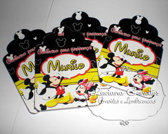 TAG 5X7cm Mickey e Minnie