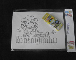 kit colorir da moranguinho