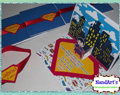 Convite Personalizado pop up - Superman