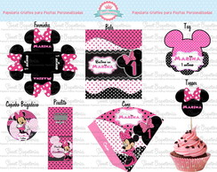 Kit Festa digital Minnie Rosa