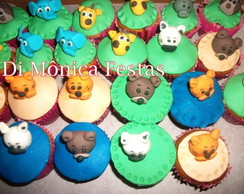 Cupcake Decorado Floresta.