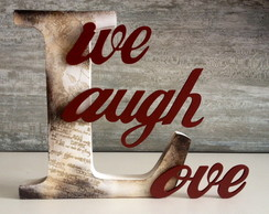 Letras Decorativas-Live, Laugh,Love