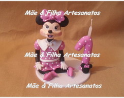 Minnie Rosa + Vela de biscuit