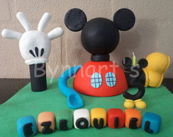 CASA DO MICKEY COM NOME E VELA