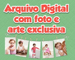 Arte Digital com foto e exclusiva