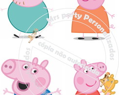 Toppers Personagens Peppa pig