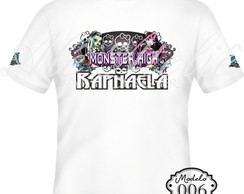 Camiseta Monster High Personalizada