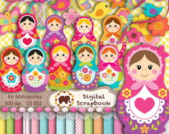 Kit Scrapbook Digital - MATRYOSHKA