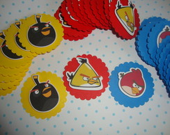 Toppers e tags no tema Angry birds
