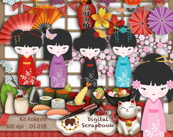 Kit Scrapbook Digital - KOKESHI