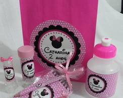 Kit Festa Personalizado - Minnie Rosa
