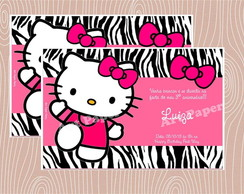 Arte Convite Hello Kitty