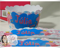 Wrappers (saia) cup cake peppa pig