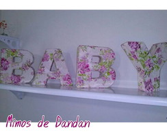 Letras decorativas 3D