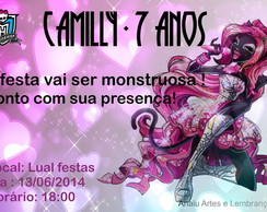 CONVITE MONSTER HIGH - mod. 2